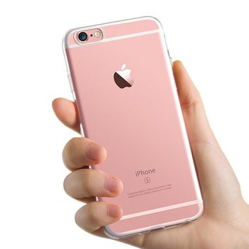 Free shipping 2016 new 0.3mm Crystal Clear Soft Silicone Transparent TPU Case cover for iphone 5 5S 5C 4 4s 6 6s 6plus 7 7plus