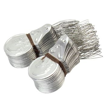 Boutique 100x Silver Tone Wire Loop DIY Needle Threade