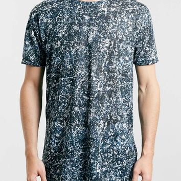 GRUNGE SCOOP MARBLE T-SHIRT - TOPMAN USA