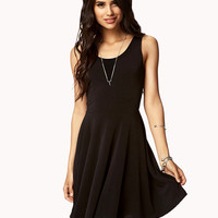 Textured Knit Skater Dress