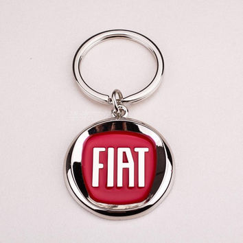 Fiat Emblems Car Logo Keychain Keyrings (Car Tires Style) Auto Parts Fiat Car Key Chain Ring Pendant For Fiat Punto