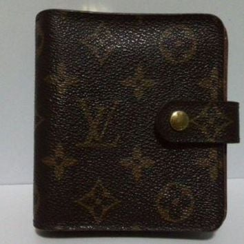 Auth LOUIS VUITTON Compact Zipper Wallet M61667 Monogram Canvas CA1907