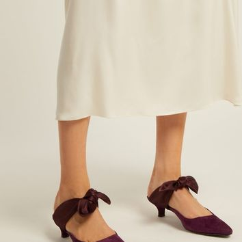 Coco bow-embellished suede mules | The Row | MATCHESFASHION.COM US