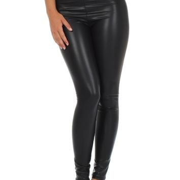 Sakkas Matte Liquid High Waist Stretch Leggings - Made in USA