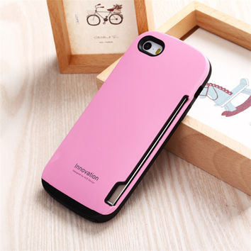 For iPhone 6 6S Case Korean Style iFace Credit Card Holder TPU Gel Case Cover for iPhone 6 6S Plus 5.5inch Capa Fundas