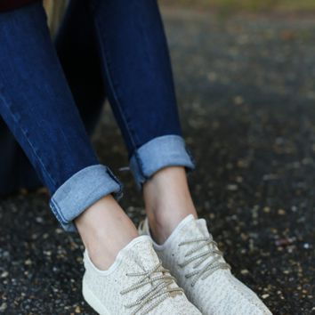 Casual Update Natural Knit Sneakers