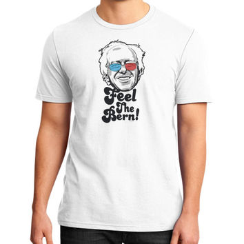 Bernie Sanders Pop Art Portrait  District T-Shirt (on man)