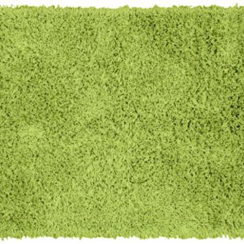 Garland Rug Jazz Shaggy Washable Nylon Rug, 24-Inch by 40-Inch, Lime Green