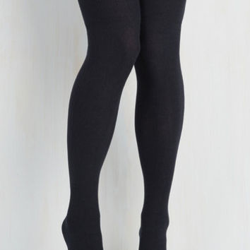 All in Alcove Thigh Highs in Navy by ModCloth