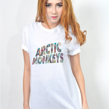 Arctic Monkeys Shirt Alex Turner T Shirts Women TShirts Hipster Tumblr Tee Shirts Tops Womens Tshirt Size S M L