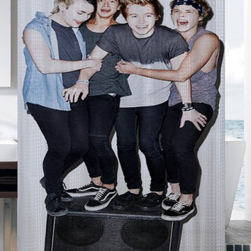5sos stereo ,5seconds of summer shower curtain
