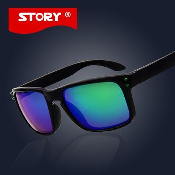 STORY Brand Sunglasses Hot Sport Brand Designer Coating Glasses For Men Women Summer Style Square Outdoor Sunglass UV400