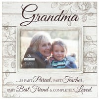 Sun Washed Words Grandma Cream Distressed Picture Frame 4X6