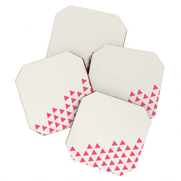 Allyson Johnson Pink Triangles Coaster Set