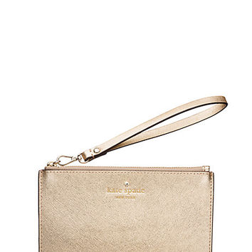 Kate Spade Gallery Drive Kerr Wristlet Gold ONE