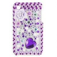 Portable Hard Back Case Cover for iPhone 3G/3GS (Purple)