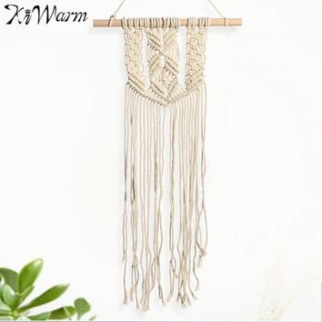 Bohemian Style Macrame Woven Wall Hanging Tapestry