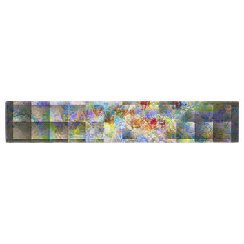 "Michael Sussna ""Yggdrasil"" Rainbow Abstract Table Runner"