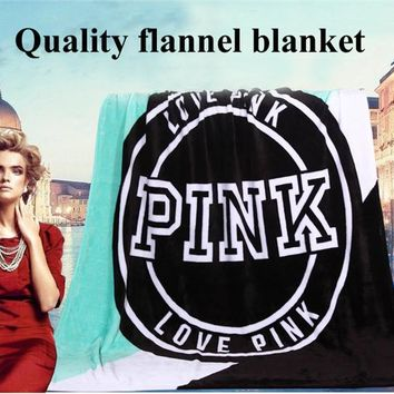 Spring/Autumn Brand VS Secret Pink Coral Fleece Blanket Bed Sofa Picnic Baby Flannel Small Victoria Blanket Swaddle Sleeper