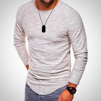 Men's Long Sleeve Fitness Casual T-Shirts