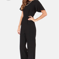 LULUS Exclusive Between View and Me Backless Black Jumpsuit