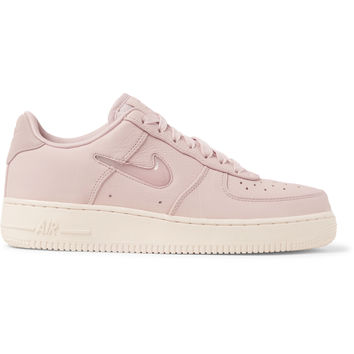 Nike - NikeLab Air Force 1 Jewel Swoosh Leather Sneakers