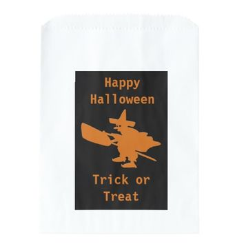 Orange Witch Happy Halloween Favor Bag