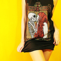 Skull Skeleton Baroness Kylesa Demons Kiss by SoYouThinkYouCanRock