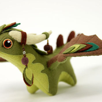 Soft toy dragon fantasy plush Made to order animal textile toys Soft sculpture children, fabric toy, handmade, favorite toy