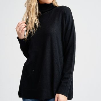 Simple Favor Sweater - Black