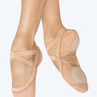 "Free Shipping - ""Pro Elastic"" Adult Split-Sole Canvas Ballet Slipper by BLOCH"