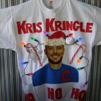 Ugly Christmas Sweater Kris Bryant Chicago Cubs Kris Kindle Small Medium Large Xlarge  Lights up Ships in 48 hours or less