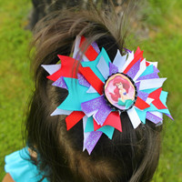 Ariel Mermaid Bottle Cap Hairbow