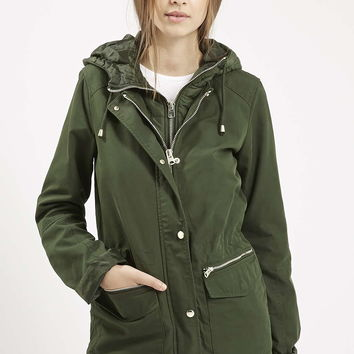 TALL Double Zip Lightweight Jacket - Topshop