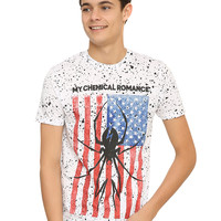 My Chemical Romance Splatter Spider Flag T-Shirt