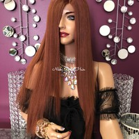 Copper Blonde Lace front Wig 20"