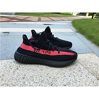 Adidas Yeezy 350 Boost V 2 black pink  Basketball Shoes 36-47