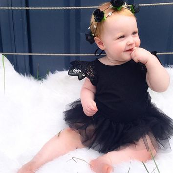 2017 Summer Born 0-24M Kids Baby Girl Infant Lace Romper Jumpsuit Tutu Dress Clothes Outfits New