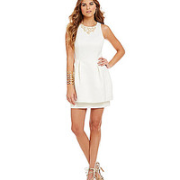 Keepsake Counter Attack Peplum-Bottom Dress | Dillards.com