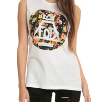 Fall Out Boy Floral Circle Girls Muscle Top