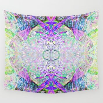 Crystal Dimension Codes Wall Tapestry by Pamela Storch