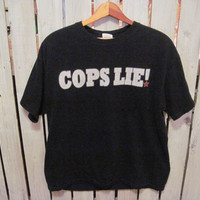 Cops Lie, FTP T-Shirt, Size Large