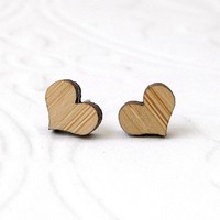Little Bamboo Heart Earrings - Whimsical & Unique Gift Ideas for the Coolest Gift Givers