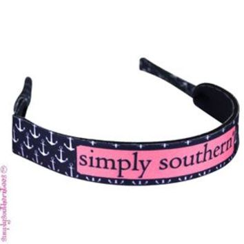 Simply Southern Preppy Croakies in Navy Anchor
