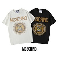 MOSCHINO 2020 new clock drill hot stamping Xiaoxiong T-shirt