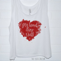 My Heart Chose Niall Tank Top | One Direction Sublimation Tank Top