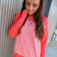 Blush, Sage, and Navy Pocket Knit