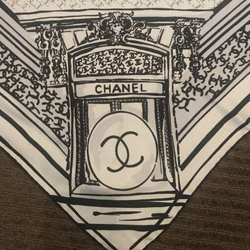 DCCKWA2 Authentic Chanel 100% Silk Scarf