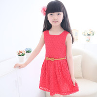 Girls Summer Red Dress