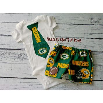 Boys Greenbay Packers Football Outfit, Baby Boys Coming Home Outfit, Greenbay Packers Game Day Outfit
